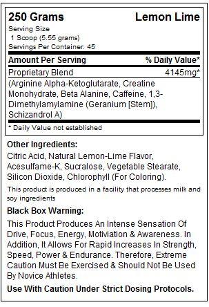 USP Labs Jack3d Supplement Facts