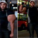 Pria dengan Otot Bisep Sebesar Pinggang Orang Dewasa