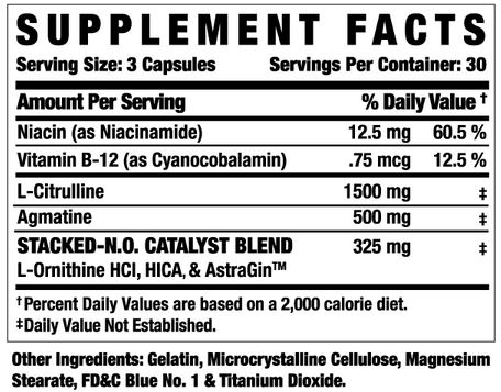 Ronnie Cole Stacked NO Supplement Facts