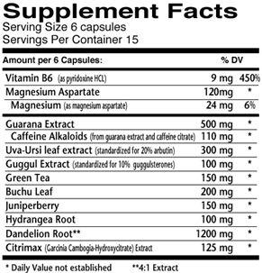 Dymatize Dyma Retic Supplement Facts
