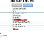 Arti Kode Istilah Tracking Resi JNE