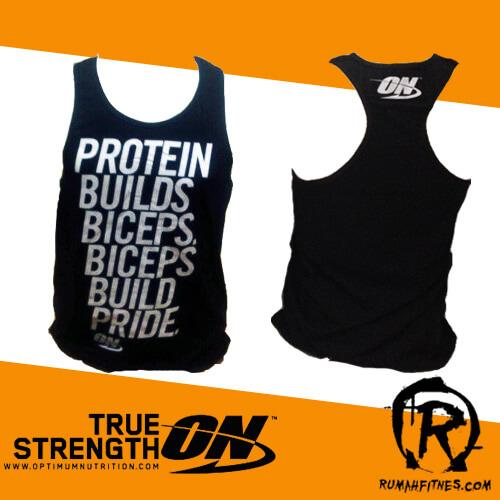 singlet gym optimum nutrition biceps