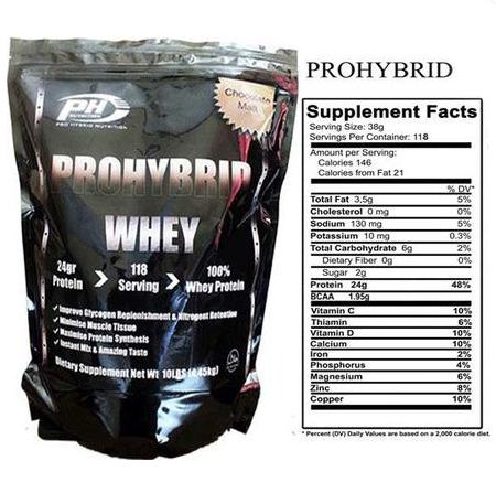 ProHybrid Whey Protein Supplement Facts