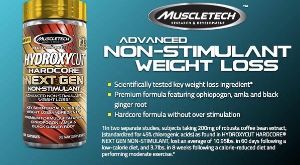 Pembakar Lemak Hydroxycut Next Gen Non Stimulant