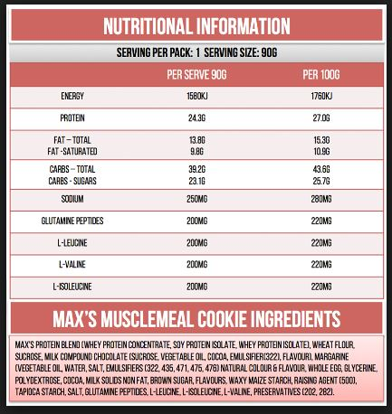 Nutrisi Muscle Meal Cookie Protein Bar