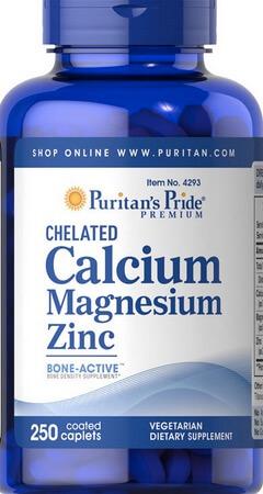 Suplemen Puritan Calcium Magnesium Zinc