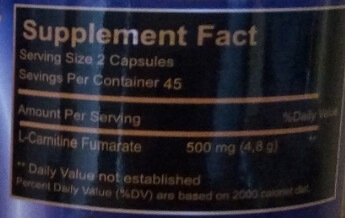 ProHybrid L-Carnitine Supplement Facts