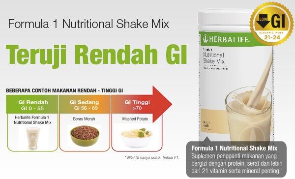 Suplemen Diet Herbalife Shake F1