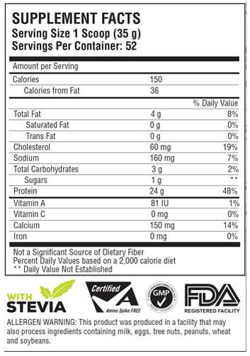 Kandungan Susu Venum Whey Protein
